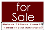 House For Sale Board